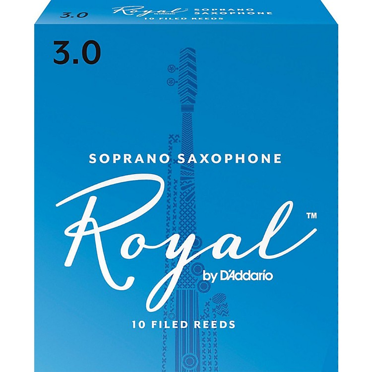 Rico Royal Soprano Saxophone Reeds Strength 3 Box of 10