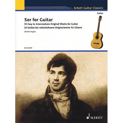 Schott Sor for Guitar (35 Easy to Intermediate Original Works for Guitar) Guitar Series Softcover-thumbnail