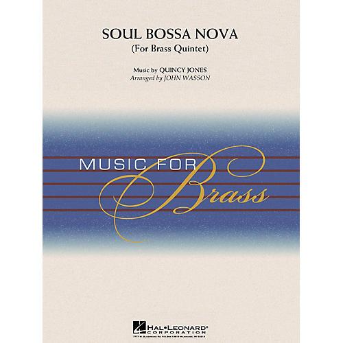 Hal Leonard Soul Bossa Nova (Brass Quintet (opt. Percussion)) Concert Band Level 3-4 Arranged by John Wasson-thumbnail