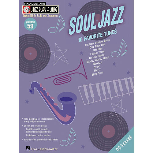 Hal Leonard Soul Jazz - Jazz Play Along Volume 59 Book with CD