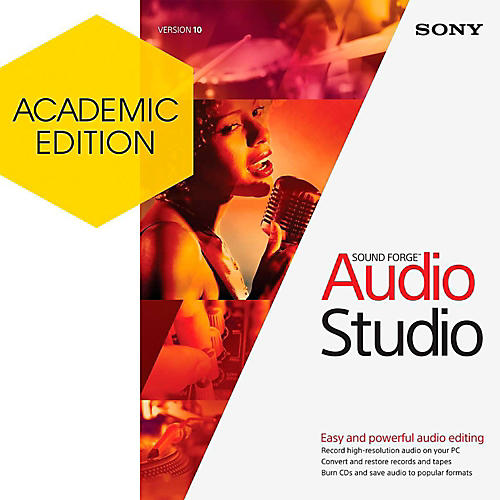 Magix Sound Forge Audio Studio 10 - Academic Software Download