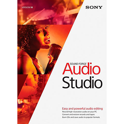 Sony Sound Forge Audio Studio 10 Software Download