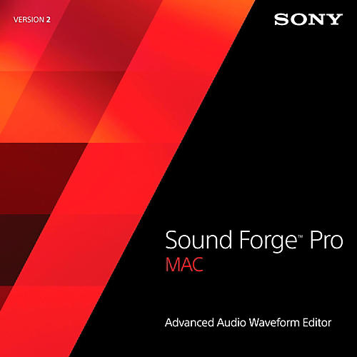 Sony Sound Forge Pro Mac 2 Software Download