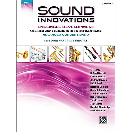 Alfred Sound Innovations Concert Band Ensemble Development Advanced Trombone 3