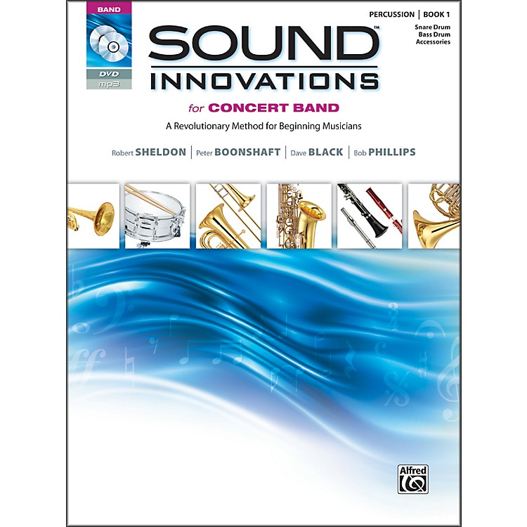AlfredSound Innovations for Concert Band Book 1 Perc Snare Bass Drum Bk CD/ DVD