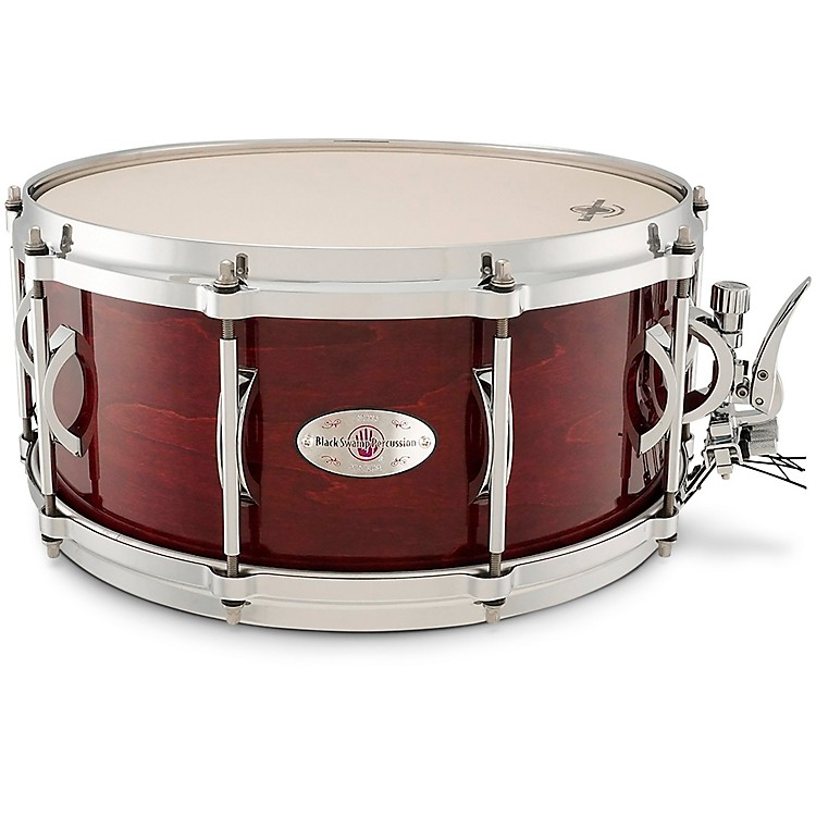 Black Swamp Percussion SoundArt Maple Shell Snare Drum Cherry Rosewood 6.5 x 14 Inch