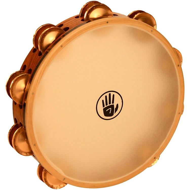 Black Swamp Percussion SoundArt Series 10 inch Tambourine Double Row with Calf Head Beryllium Copper TD4