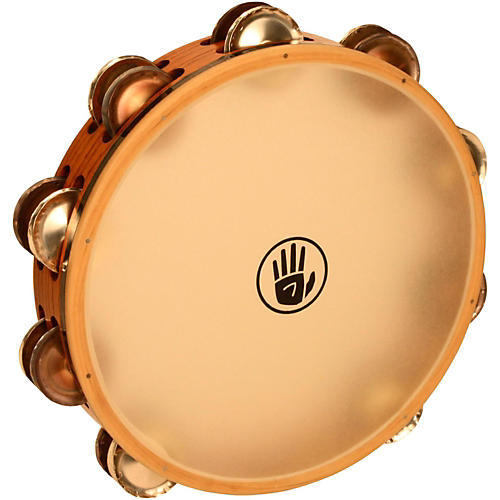Black Swamp Percussion SoundArt Series 10 inch Tambourine Double Row with Calf Head-thumbnail