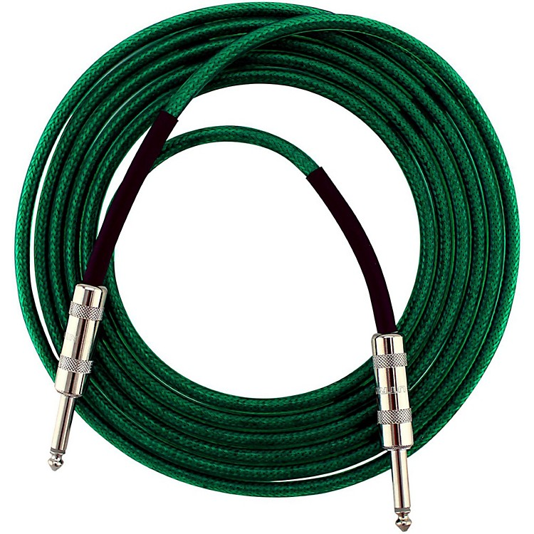 Live Wire Soundhose Instrument Cable Green 20 Feet