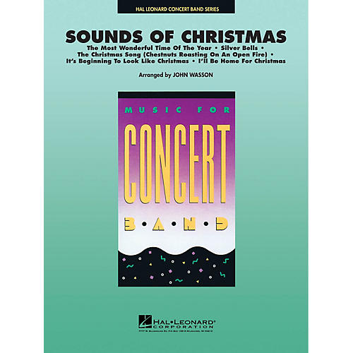 Hal Leonard Sounds of Christmas Concert Band Level 4-5 Arranged by John Wasson-thumbnail
