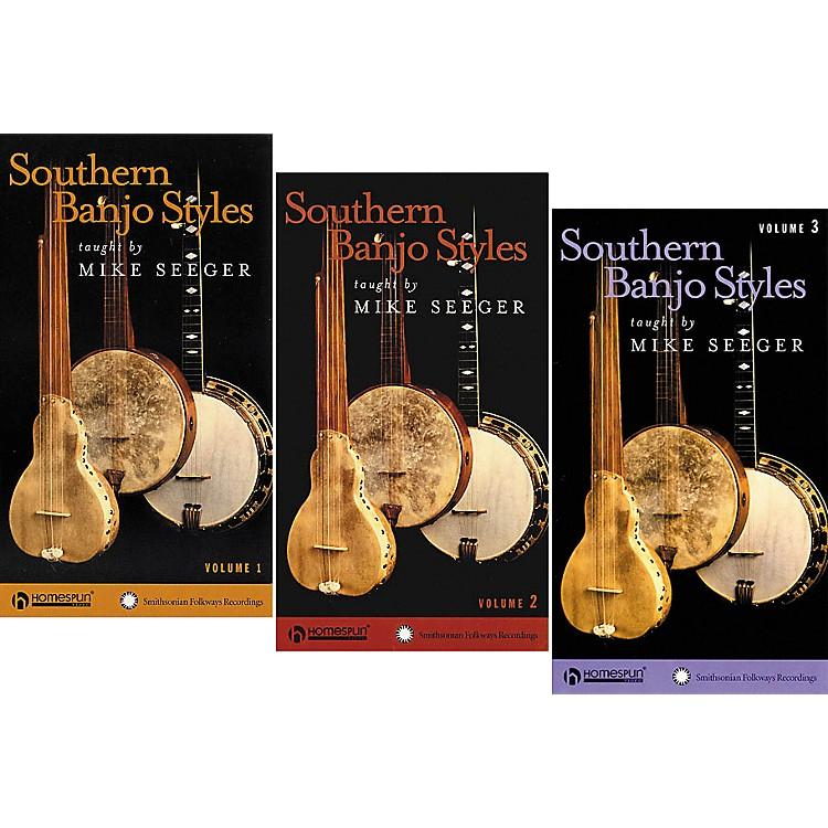 HomespunSouthern Banjo Styles 3-Video Set (VHS)