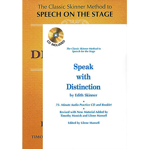 Applause Books Speak with Distinction (Book/CD/Booklet Package) Applause Acting Series Series Written by Edith Skinner-thumbnail