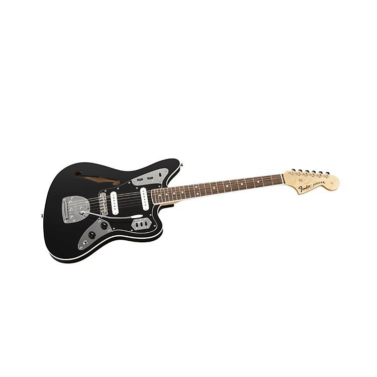 FenderSpecial Edition Jaguar Thinline Electric GuitarBlackRosewood Fingerboard