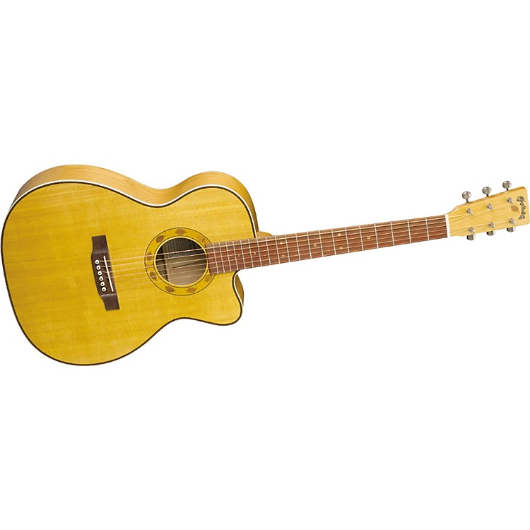 MartinSpecial Edition OMC Cherry Cutaway Acoustic-Electric Guitar with Case