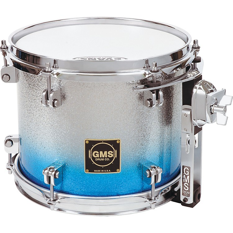 GMSSpecial Edition Rack Tom11X14Silver/Blue Sparkle Fade