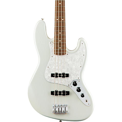 Fender Special Edition White Opal Jazz Bass-thumbnail