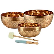 Meinl Special Engraved Singing Bowl Set, 3 Pieces