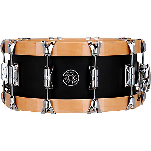 Taye Drums Specialty Aluminum Snare with Natural Wood Hoops