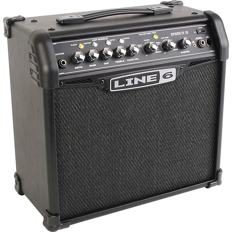 Line 6 Spider IV 15 15W 1x8 Guitar Combo Amp Black