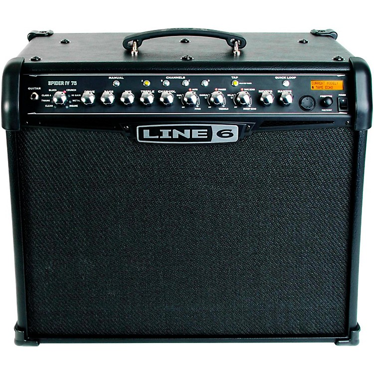 Line 6 Spider IV 75 75W 1x12 Guitar Combo Amp Black