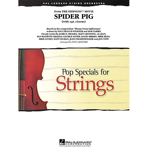 Hal Leonard Spider Pig (from The Simpsons) Pop Specials for Strings Series Softcover Arranged by Paul Lavender-thumbnail