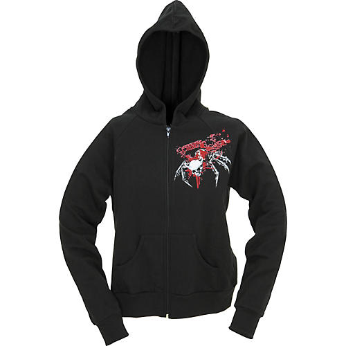 Coffin Case Spider Skull Women's Zippered Hoodie-thumbnail