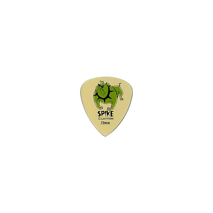 ClaytonSpike Ultem Gold Sharp Standard Guitar Picks 1 Dozen.72MM