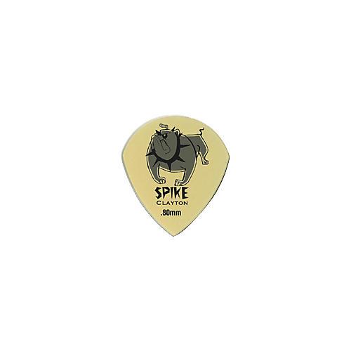 Clayton Spike Ultem Gold Sharp Teardrop Guitar Picks 1 Dozen  .80 mm