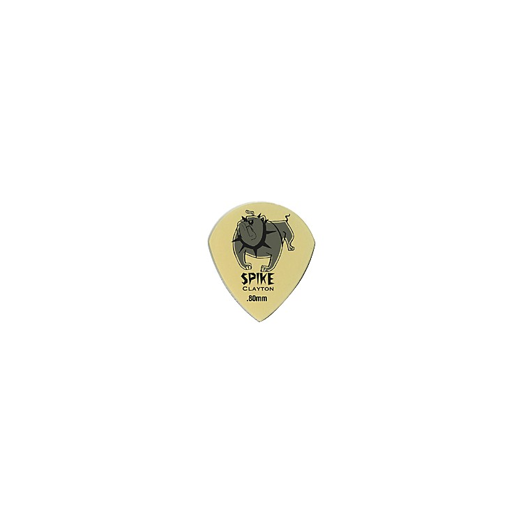 Clayton Spike Ultem Gold Sharp Teardrop Guitar Picks 1 Dozen  .80MM