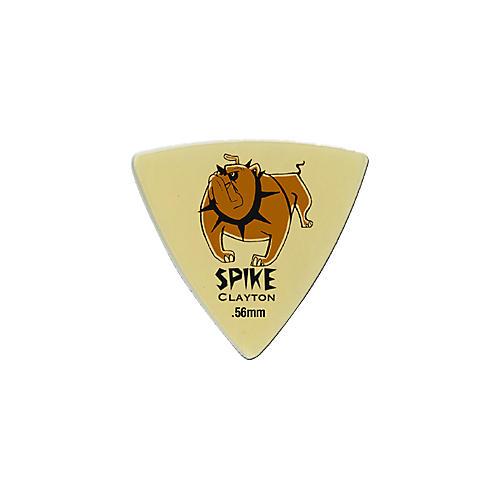 Clayton Spike Ultem Gold Sharp Triangle Guitar Picks 1 Dozen  .56 mm