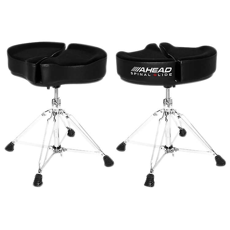 Ahead Spinal G Drum Throne Black Cloth Top/Black Sides 18 Inch