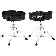 Ahead Spinal G Drum Throne Level 1 Black Cloth Top and Black Sparkle Sides 18 in.