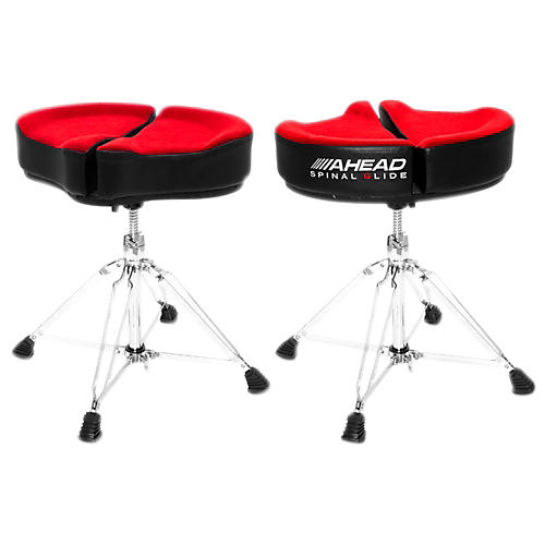 Ahead Spinal G Drum Throne Red Cloth Top/Black Sides 18 in.
