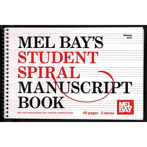 Mel Bay Spiral Bound Student Manuscript Book