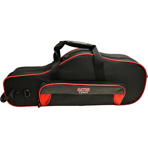 Gator Spirit Series Lightweight Alto Saxophone Case Red and Black
