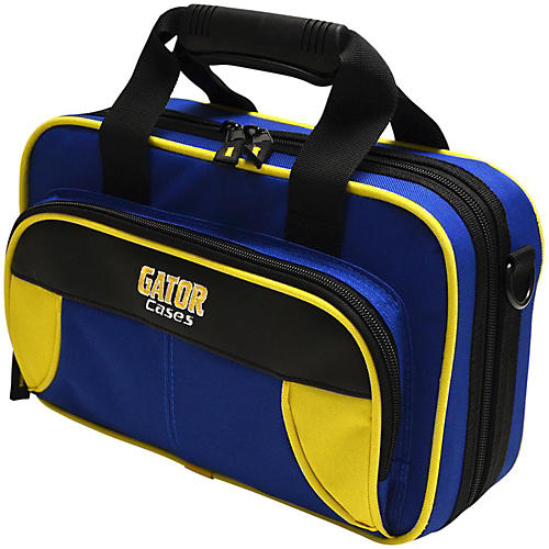 Gator Spirit Series Lightweight Clarinet Case Yellow and Blue