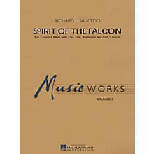 Hal Leonard Spirit of the Falcon Concert Band Level 3 Composed by Richard L. Saucedo