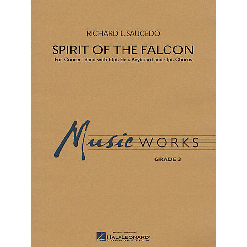 Hal Leonard Spirit of the Falcon Concert Band Level 3 Composed by Richard L. Saucedo-thumbnail