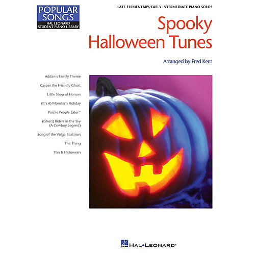 Hal Leonard Spooky Halloween Tunes Piano Library Series Book (Level Late Elem)-thumbnail
