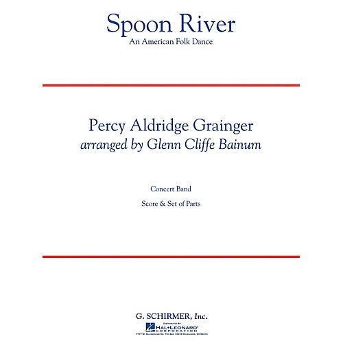 G. Schirmer Spoon River Concert Band Level 4 Composed by Percy Aldridge Grainger Arranged by Glenn Cliffe Bainum-thumbnail