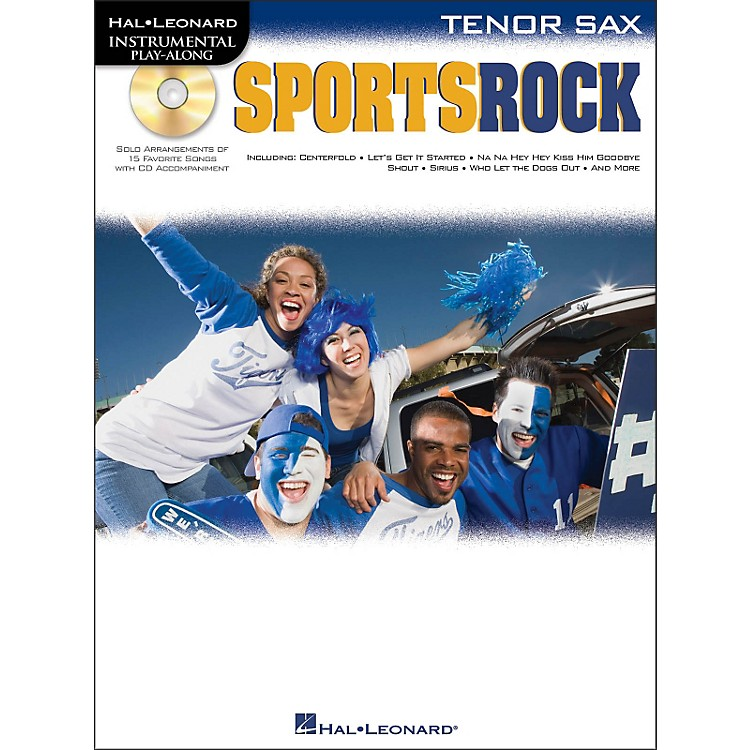 Hal Leonard Sports Rock for Tenor Sax - Instrumental Play-Along Book/CD Pkg