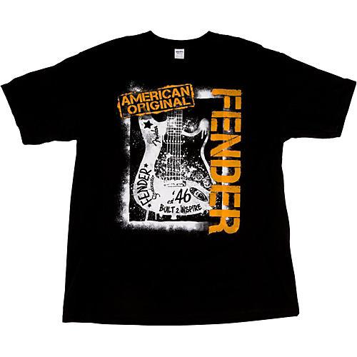 Fender Spraypaint Graffiti T-Shirt Black Large
