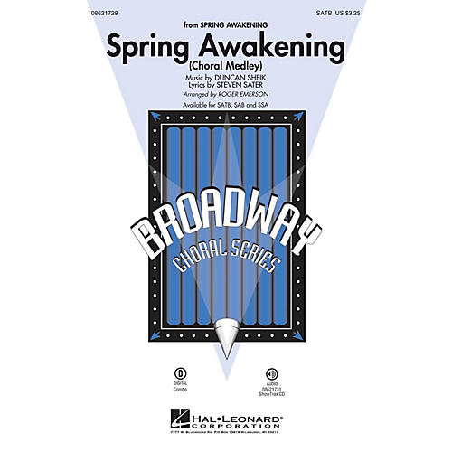 Hal Leonard Spring Awakening (Choral Medley) ShowTrax CD Arranged by Roger Emerson-thumbnail
