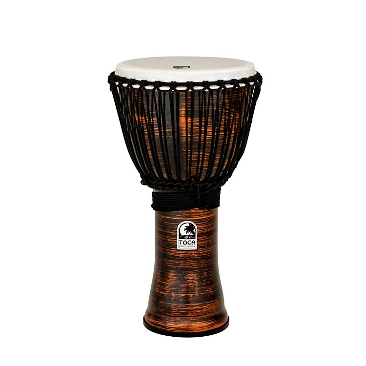 Toca Spun Copper Rope Tuned Djembe 12 Inch