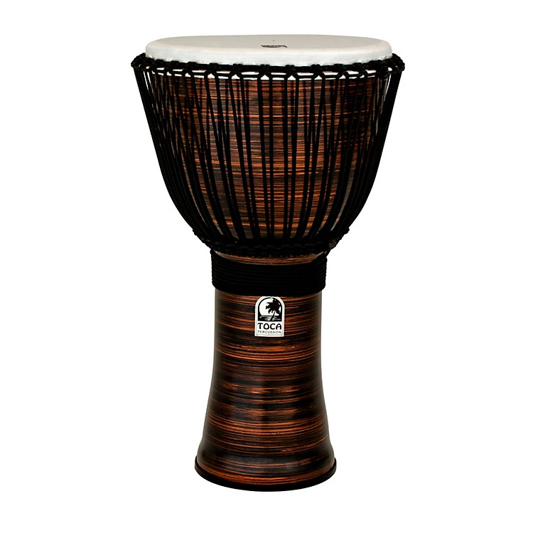 Toca Spun Copper Rope Tuned Djembe with Bag 14 Inch