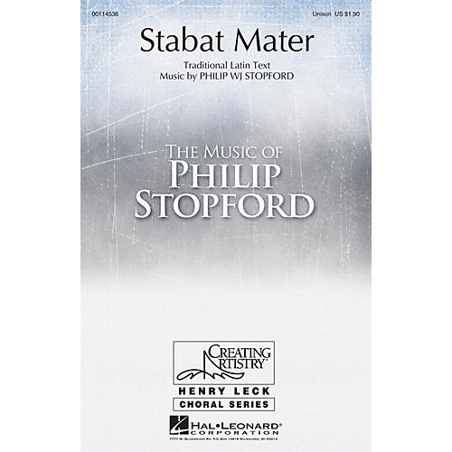 Hal Leonard Stabat Mater UNIS composed by Philip Stopford-thumbnail