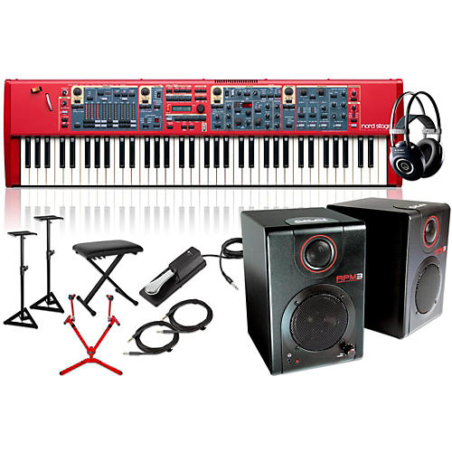 Nord Stage 2 73-Key with Matching Stand, RPM3 Monitors, Headphones, Bench, and Sustain Pedal
