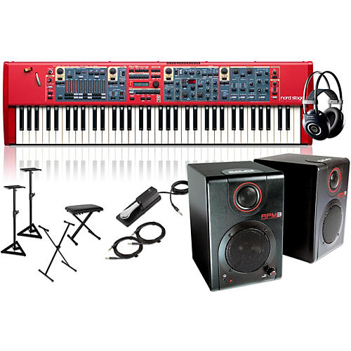 Nord Stage 2 73-Key with RPM3 Monitors, Headphones, Bench, Stand, and Sustain Pedal