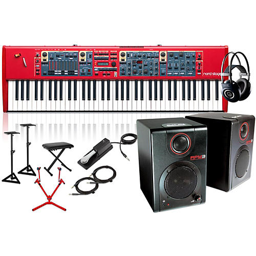 Nord Stage 2 76-Key with Matching Stand, RPM3 Monitors, Headphones, Bench, and Sustain Pedal-thumbnail