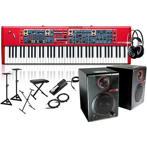 Nord Stage 2 76-Key with RPM3 Monitors, Headphones, Bench, Stand, and Sustain Pedal-thumbnail